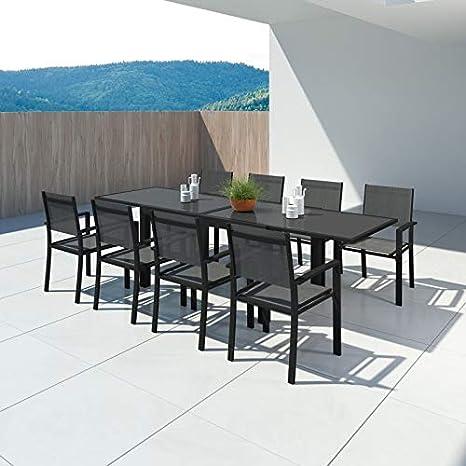 IMS GARDEN Hara XL-Table de Jardin Extensible Aluminium 140/280cm + ...