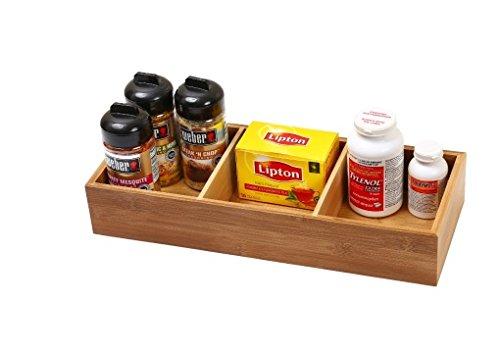 - YBM Home & Kitchen 3-compartment Bamboo Drawer Organizer Box Size 15Lx6Wx2.5H #327