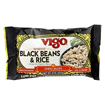 Vigo Black Beans and Rice, 8-Ounce Pouches (Pack of 24 ...