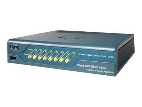Cisco ASA5505-BUN-K9 ASA 5505 Firewall Edition Bundle - Security appliance - 8 ports - 10 users - 10Mb LAN, 100Mb LAN