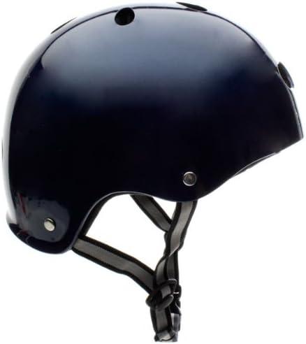 スケート/BMXヘルメットブルーメタリック - ミディアム(55cm-56cm)