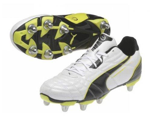 King Universal H8SG–Schuhe Fußball-weiß/schwarz/gelb weiß