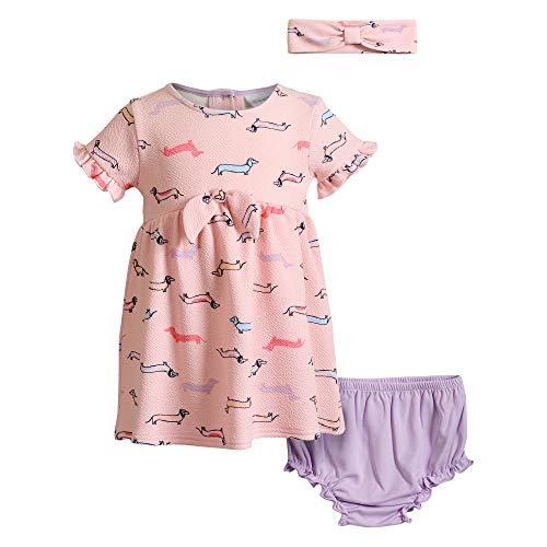 Sweet Heart Rose Baby Girls Texture Knit Dress, Multi, 12MO