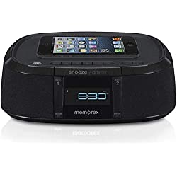 Memorex MW453 Bluetooth Wireless Alarm Clock FM Radio w/ Universal Line In with USB Charging