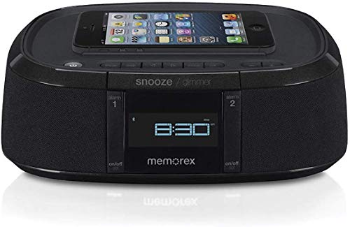Memorex MW453 Bluetooth Wireless Alarm Clock FM Radio w/ Universal Line In with USB Charging (Ihome Memorex)