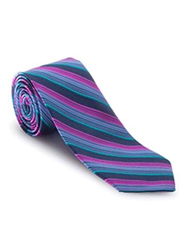 Robert Talbott Turquoise, Black and Dark Pink Stripe Venture Best of Class Tie by Robert Talbott