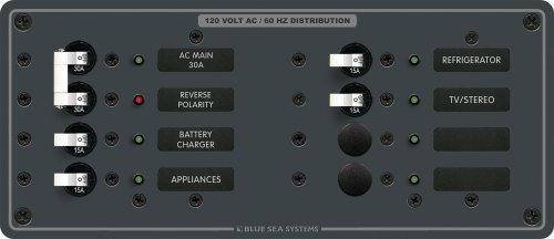 AC Main + 6 Positions by Blue Sea Systems