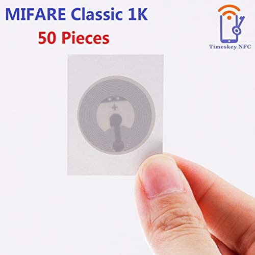 50 Pièces Classic 1K RFID Smart NFC Tags ISO14443A Autocollants ...