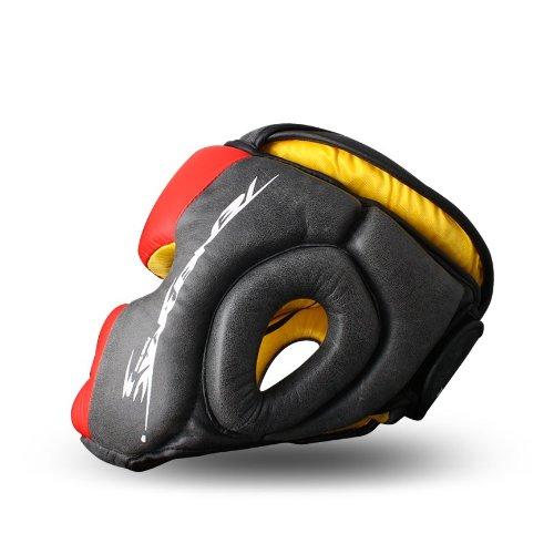 PunchTown Tenebrae Headguard, Red, Small/Medium
