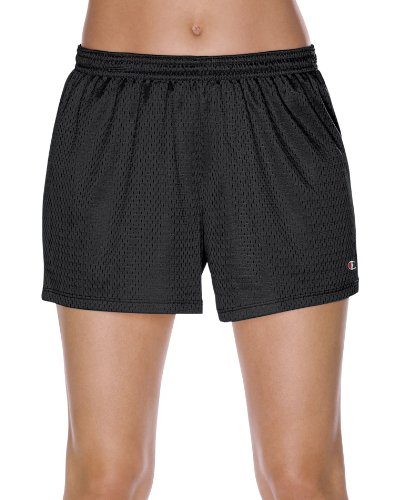 (Champion Women's Mesh Shorts, Black, X-Large)