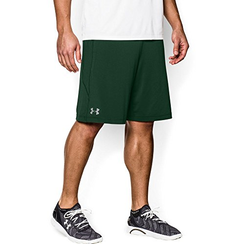 "Under Armour Men's Raid 10"" Shorts, Forest Green/Steel, Large"