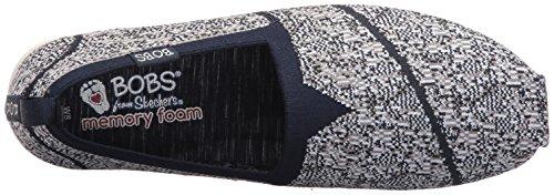 Skechers Bobs - zapatos planos acolchados para mujeres, personalizados azul marino, gris (Navy/Gray Knit)
