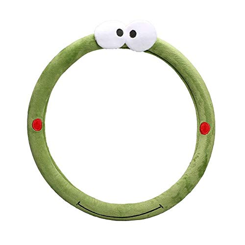 Nuobo Steering Wheel Cover for Women Girls Auto Universal Plush Cute Cartoon Women's Car Steering Covers 15inch