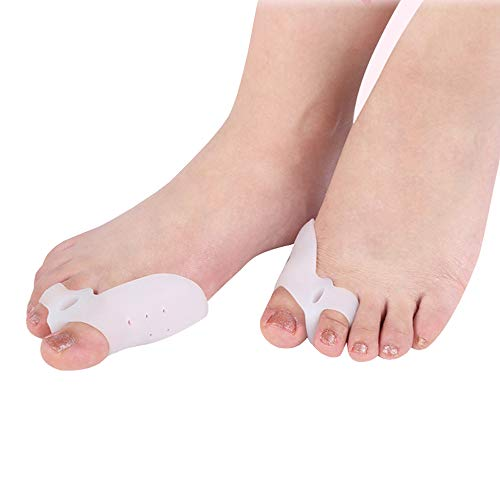 1Pair Silicone Bunion Corrector&Relief Protector-Treat Pain in Hallux Valgus Tailors Bunion, Big Toe Joint Hammer Toe Toe Separators Spacers Straighteners Splint Aid Surgery Treatment Type by XXJKHL (Image #4)
