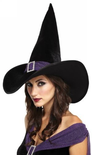 (Elegant Witch Hat (Black/Purple) Adult)