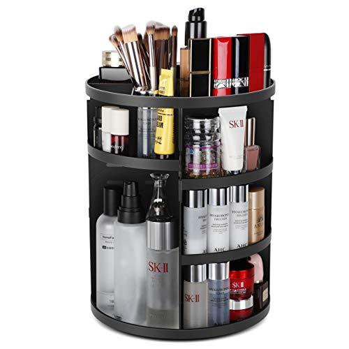 Syntus 360 Rotating Makeup Organizer, DIY Adjustable Bathroom Makeup Carousel Spinning Holder -