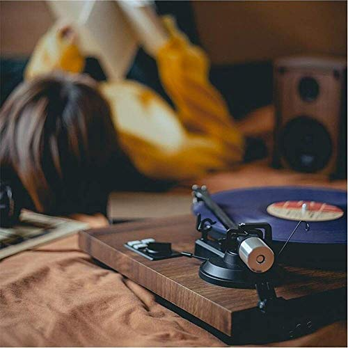 TBTUA Vintage Classic Phonograph, Record Player,Wooden Turntable,Bluetooth Phonograph with Built-in Stereo Speakers RCA Audio Line Out Turntable for Vinyl Records