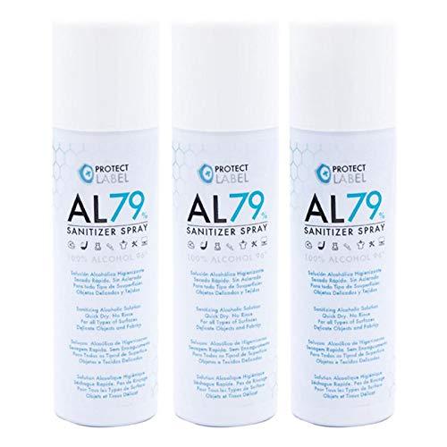 🥇 Hidroalcohol Spray 3 x 500ml. Higienizante manos y superficies 79% Alcohol Aerosol Hidroalcohólico