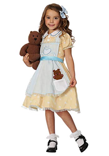 Toddler Girls Goldilocks Costume 4T Yellow