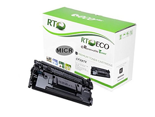 Renewable Toner 287X Compatible MICR Toner Cartridge Replacement HP CF287X for HP LaserJet Enterprise M506 MFP M527 Series by Renewable Toner