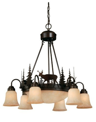 Vaxcel Bryce 9-Light Chandelier - 28.5W in. Burnished Bronze by Vaxcel International Co Ltd from Vaxcel