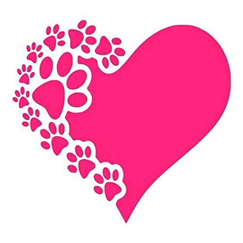 Paw Print Heart Decal 4