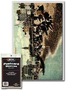 Ultra Pro Postcard Sleeves - BCW Continental Postcard Sleeves, 100 Piece
