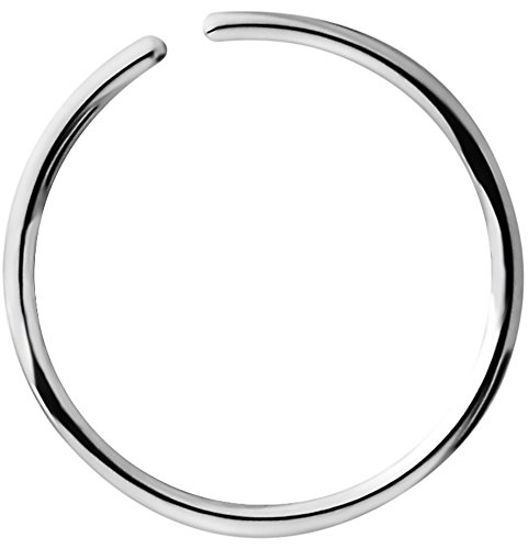 20g 3/8 Inch (10 mm) Surgical Steel Seamless Nose Ring & Cartilage Hoop with Comfort Round Ends