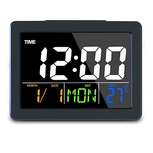 GLOUE Digital Alarm Clock with USB Port for Charging Snooze Function