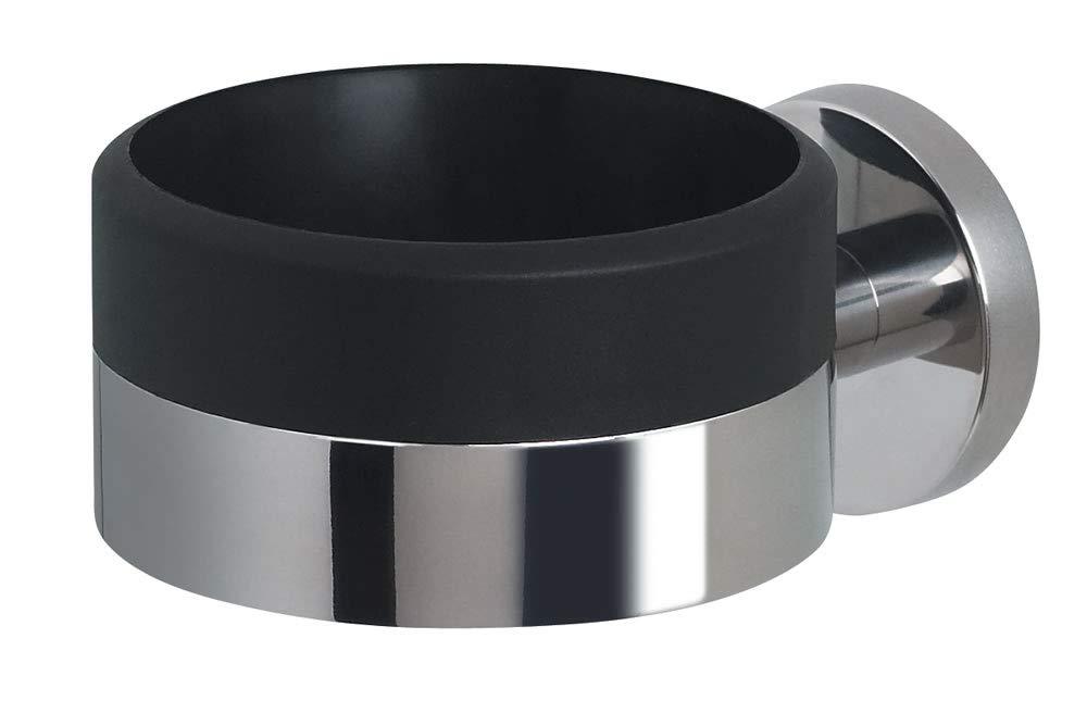 Spirella - Supporto per asciugacapelli in Robusto Acciaio Inox Opaco, da avvitare e forare, 6 x 9 x 12 cm