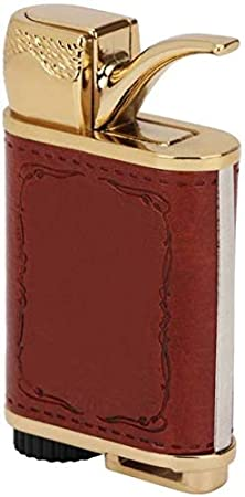 PIA INTERNATIONAL reg; JD Pipe Leather Butane Cigarette Lighter