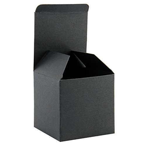 Medium Square Boxes - RUSPEPA Recycled Cardboard Gift Boxes - Small Square Gift Boxes with Lids for Party and Crafts - 3