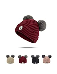 Rgslon Baby Toddler Warm Knit Hats Cotton Beanies Caps for Boys Girls
