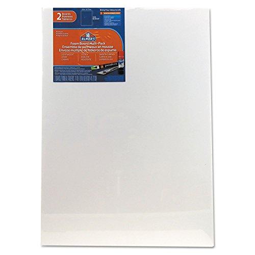 Pre-Cut White Foam Board Sheets, 18 x 24, 2/PK, 4 Packs by Elmer's
