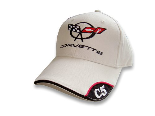 Sandwich Lightweight Brushed - Corvette Sandwich Bill C5 Emblem Hat/Cap : C5 1997-2004 (Bone)