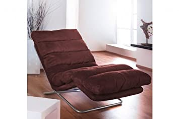 Relax Liege Mocca Microfaser Wohnzimmer Relaxstuhl Couch Sofa