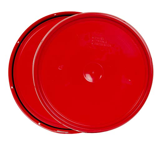 Red 2 Gallon Lid with Tear ()