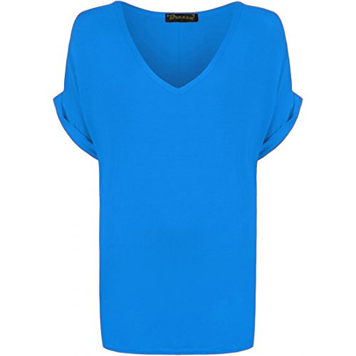 AHR LTD @ - Camiseta sin mangas - para mujer Royal Blue - Celebrity Inspired Party Dinner