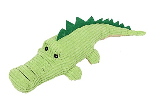 (Machao Pet Knots Squeak Plush Dog Toy Cat Toy,Chew Toy,Teeth Clean Doll,Super Crocodiles,for Pet/Animal,Eco-Friendly Cotton and Flannel Crocodiles Also for Kids Children )