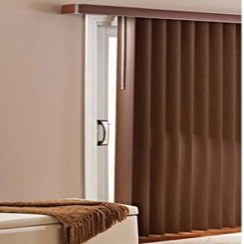 Patio Doors Vertical Blinds, Chestnut (Blind Vertical Bar)