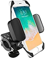 boldR® Soporte de Celular para Bicicleta o Motocicleta. Base de Celular Universal para Cualquier Bici o Moto. Compatible con iPhone 5/ 6 / 6 plus / Galaxy 5 / 6 / 7 / 7 Edge, o cualquier otro smartphone o Celular. BikeGrip. Disponible en Color Negro con Rojo y Negro con Gris.