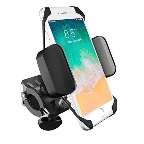 boldR® Soporte de Celular para Bicicleta, Motocicleta y Carreola. Base de Celular Universal para Cualquier Bici o Moto. Compatible con iPhone 5/ 6 / 6 plus / Galaxy 5 / 6 / 7 / 7 Edge, o cualquier otro smartphone o Celular. BikeGrip. Color Negro con Gris.