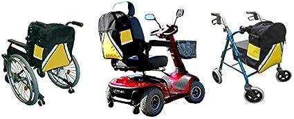 Mochila de alta visibilidad para silla de ruedas y scooter de movilidad con soporte para muletas