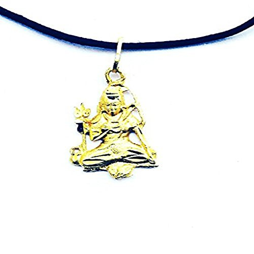 DevDeep Pure Brass Lord Shiva (MAHADEV/SHIVJI) Pendant A+++ Quality with free Velvet Pouch]()