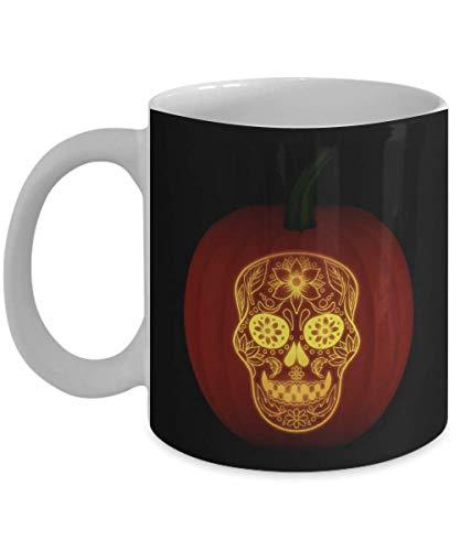 Day of the Dead Pumpkin Dia De Los Muertos Skull Gift Gift Coffee Mugs