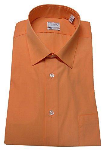 Arrow Men's Athletic Fit Shirt, 1/2-34/35, Canela/Orange