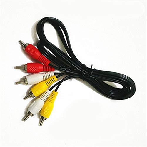 FidgetKute 3 RCA to 3 RCA Composite Audio Video AV Cable Cord Male to Male Show One Size