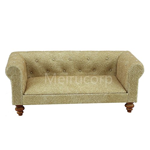 Meirucorp 1/12 Scale Dollhouse Miniature Furniture Handmade Soft Fabric Sofa
