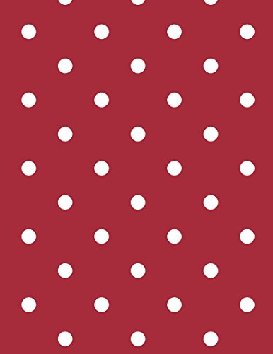 Picnic Dots - 55 x 70-inch Rectangle Tablecloth | Polka Dots Red Vinyl Dining Table Cover (Seats 4-6 People)