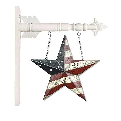 K&K Interiors Americana Star Arrow Replacement with White Hanger